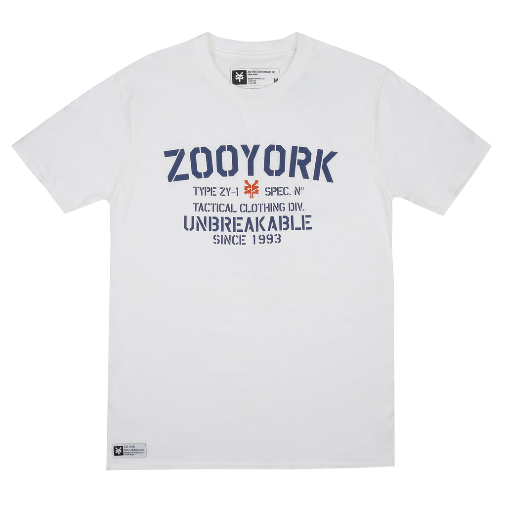 Zoo York Mens - Tactical - T-shirt - White