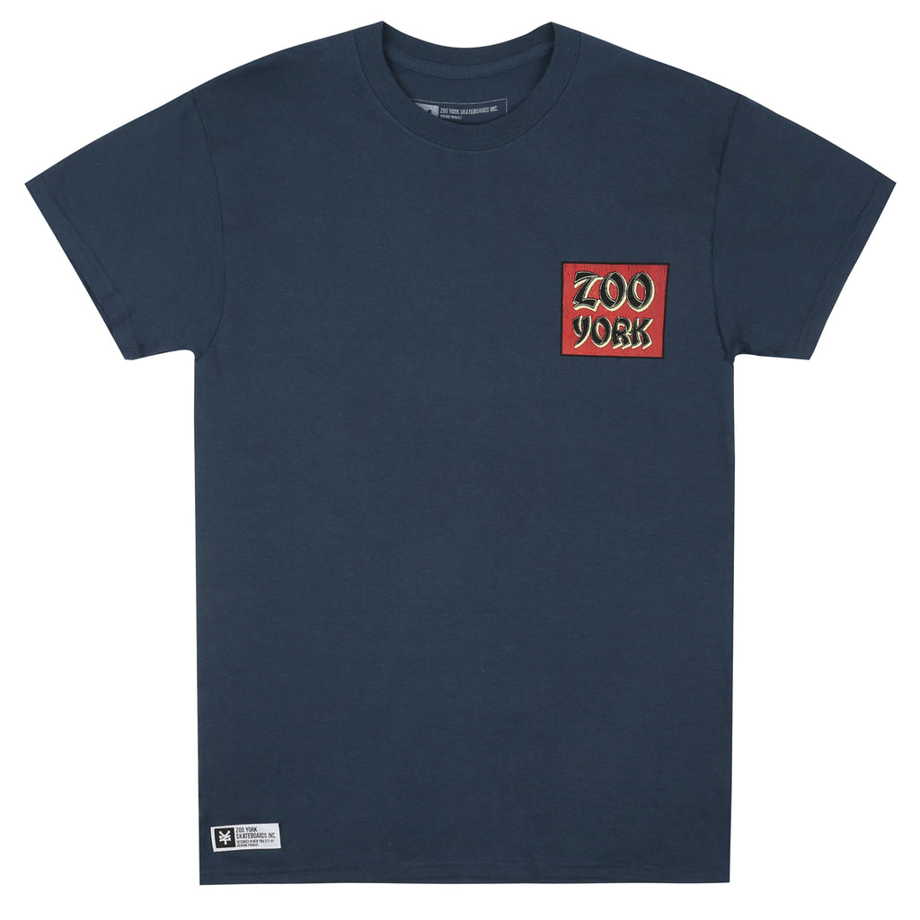 Zoo York Mens - Tiger Bomb - T-shirt - Blue Dusk