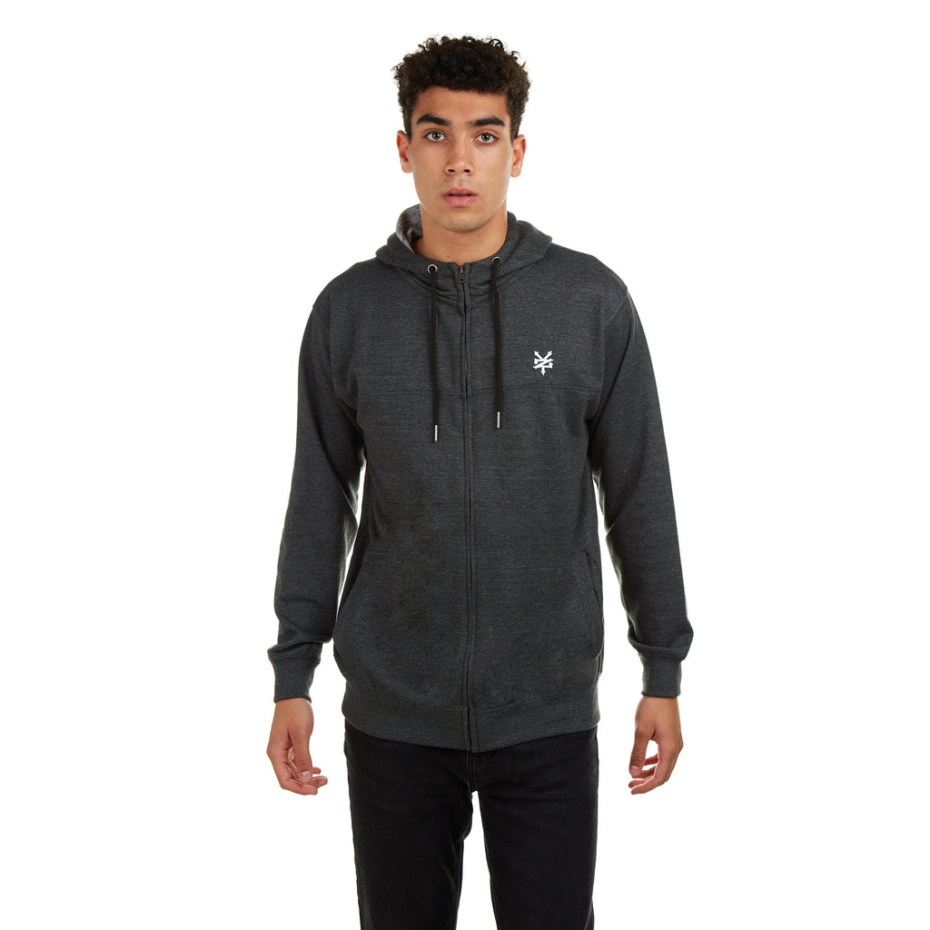 Zoo York Mens - Stockwell - Zip Hood - Charcoal Heather