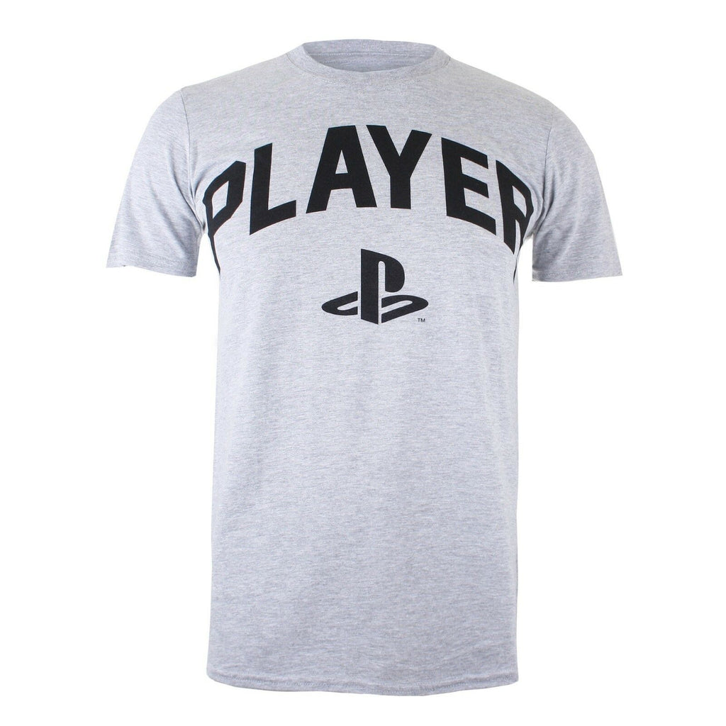 Playstation Mens - Player - T-Shirt - Heather Grey - CLEARANCE
