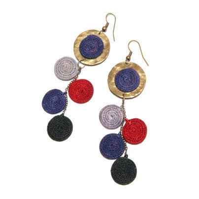 Sisal & Brass Earrings