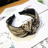 Diadeem/ haarband knotted Fashion print