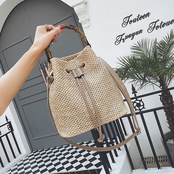 Luxury Musthave Bamboo bucket handtas
