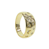 Trendy Dames Gouden jewelry ring ster/maan