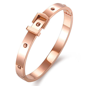 Fashion Stainless steel armband met gesp