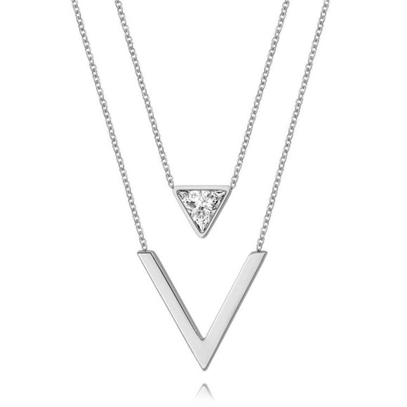 Fashion ketting Trianglle V letter