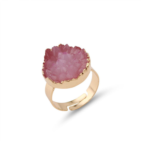 Dames Statement ring met gekleurde steen