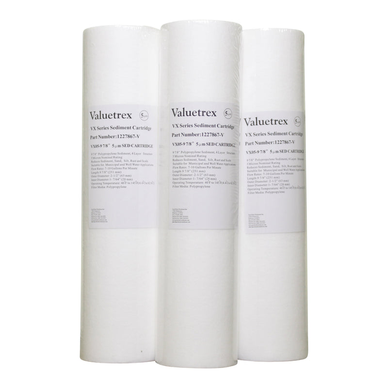 "Valuetrex 5 m 10"" Sediment #1227867-V Pkg of 3"