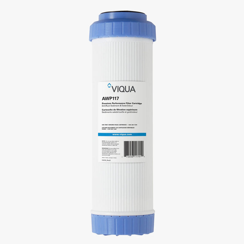 "Viqua 10"" Carbon, Taste, Odor, Sediment and Rust Filter AWP117"