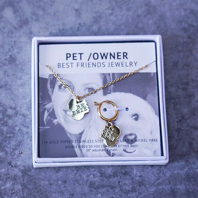Best Friends Pet and PAWrent Jewelry Set