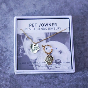 Best Friends Pet and PAWrent Jewelry Set Care Package
