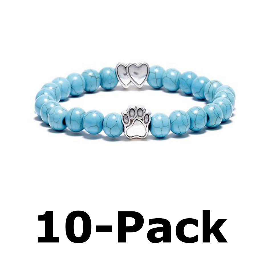 Heart Charm Friends & Family 10-Pack (Aquamarine)