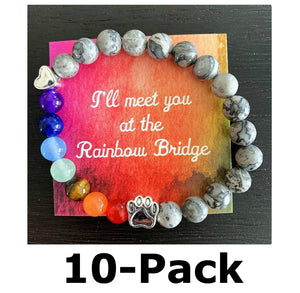 """Over The Rainbow Bridge"" Friends & Family 10-Pack (Grey Marble)"