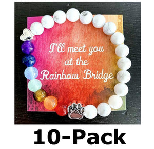 """Over The Rainbow Bridge"" Friends & Family 10-Pack (White Marble)"