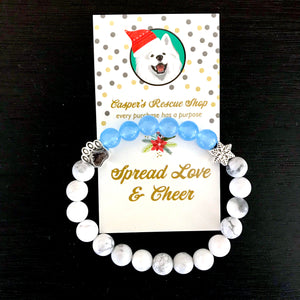Limited Edition Winter Paw & Snowflake Bracelet