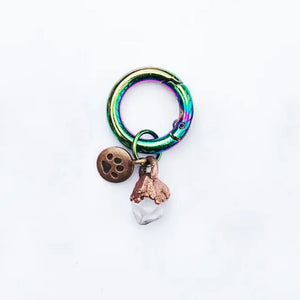 Large Clear Quartz Crystal Collar Pet Charm
