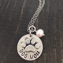 "Load image into Gallery viewer, ""Proud Dog Mom"" Necklace"