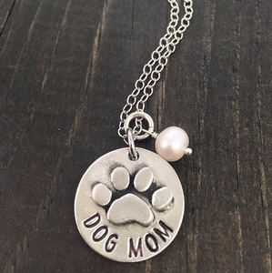 """Proud Dog Mom"" Necklace"
