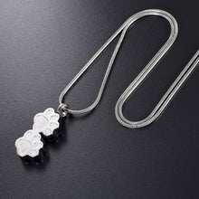 "Load image into Gallery viewer, ""Forever With Me"" Memorial Paw Necklace"