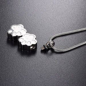 """Forever With Me"" Memorial Paw Necklace"