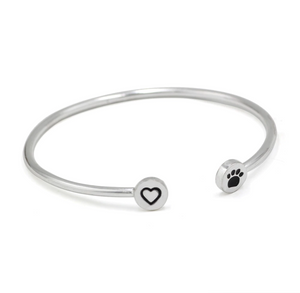 """Hearts and Paws"" Bangle"
