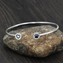 "Load image into Gallery viewer, ""Hearts and Paws"" Bangle"