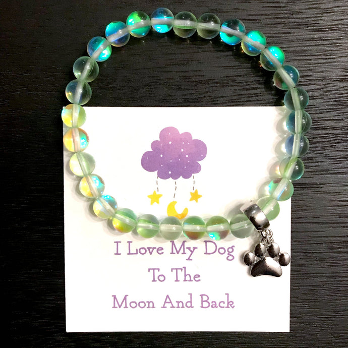 Green Galaxy Moonbeam Bracelet
