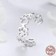 "Load image into Gallery viewer, ""Forever Walking By My Side"" Sterling Silver Ring & Bracelet Set"