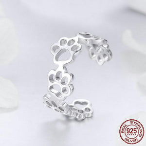 """Forever Walking By My Side"" Sterling Silver Ring & Bracelet Set"