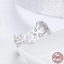 "Load image into Gallery viewer, ""Forever Walking By My Side"" Sterling Silver Ring"