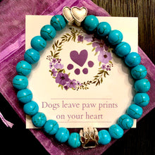 "Load image into Gallery viewer, ""Forever In My Heart"" Aquamarine Stone Bead Bracelet"