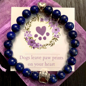 """Forever In My Heart"" Lapis Bracelet Care Package"