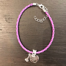 "Load image into Gallery viewer, ""My Dog Is My Best Friend"" Purple Cord Bracelet"