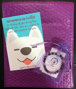 Amethyst Paw Bracelet Care Package