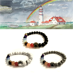 """Over The Rainbow Bridge"" Black, White, And Grey Trio"