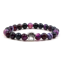 Load image into Gallery viewer, Amethyst Paw Bracelet Care Package