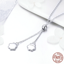 "Load image into Gallery viewer, ""Love You Forever"" Sterling Silver Paw Necklace"