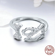 "Load image into Gallery viewer, ""Love is Four Paws"" Sterling Silver Ring"