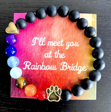 "Load image into Gallery viewer, ""Over The Rainbow Bridge"" Black, White, And Grey Trio"
