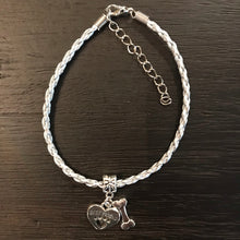 "Load image into Gallery viewer, ""My Dog Is My Best Friend"" Silver Cord Bracelet"