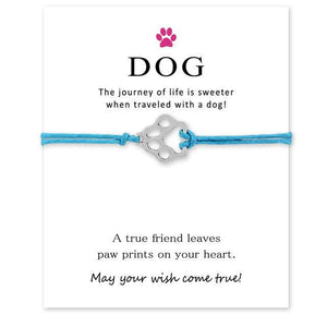 """Wish Upon a Paw"" Black, Pink & Blue Bracelet Trio"
