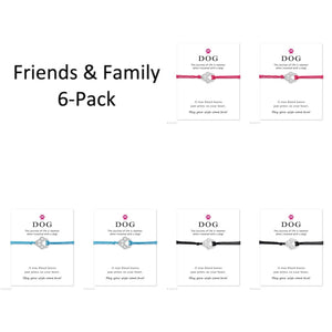"""Wish Upon a Paw"" Friends & Family 6-Pack (Assorted Colors)"