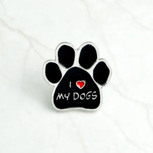 """I Love My Dogs"" Pin"