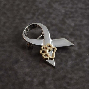 """I Stand Against Animal Cruelty"" Advocacy Pin (Silver)"