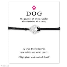 "Load image into Gallery viewer, ""Wish Upon a Paw"" Black, Pink & Blue Bracelet Trio"