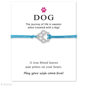 "Blue ""Wish Upon A Paw"" Bracelet Care Package"