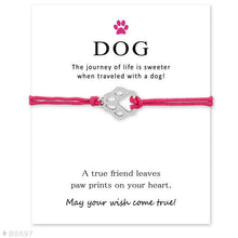 "Load image into Gallery viewer, Pink ""Wish Upon A Paw"" Bracelet Care Package"