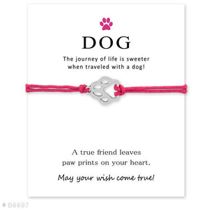 "Pink ""Wish Upon A Paw"" Bracelet Care Package"