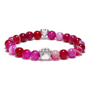 """Forever In My Heart"" Pink Sapphire Bracelet Care Package"