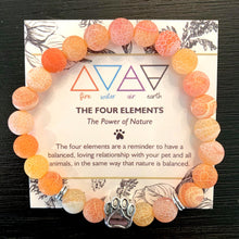 "Load image into Gallery viewer, ""The Four Elements"" Paw Bracelet: Fire"